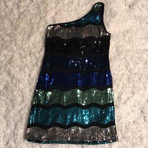 Forever 21 one shoulder sequin mini dress